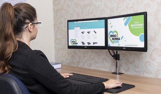 Distância visual usuário – Monitor